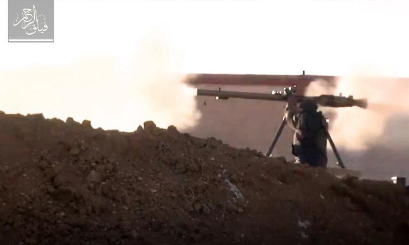 تصدي عناصر فيلق الرحمن لتقدم قوات الأسد على جبهة المحمدية بالغوطة الشرقية- 5 نيسان -(فيلق الرحمن)
