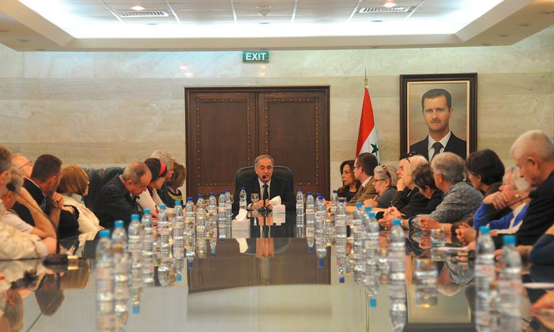 أيمن سوسان، معاون وزير خارجية النظام السوري - 2017 (سانا)