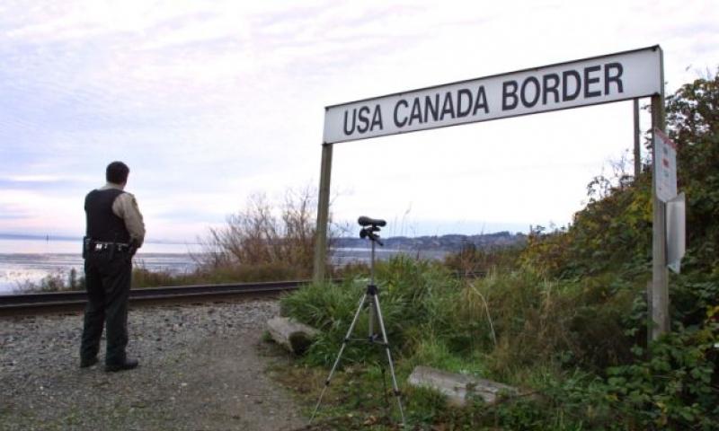 الحدود الأمريكية الكندية - (انترنت)