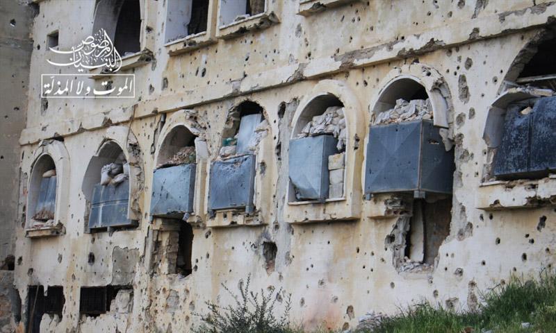 حاجز السلوم بعد السيطرة عليه من قبل المعارضة السورية في حي المنشية (البنيان المرصوص)