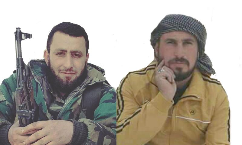 """القائدان العسكريان في """"جيش العزة"""" ساهر عدنان الصالح (يمين) ومحمد جلاد (تعديل عنب بلدي)"""