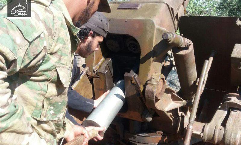"""""""جيش النصر"""" يستهدف مواقع قوات الأسد في ريف حماة الشمالي- الاثنين 24 نيسان (تلغرام)"""