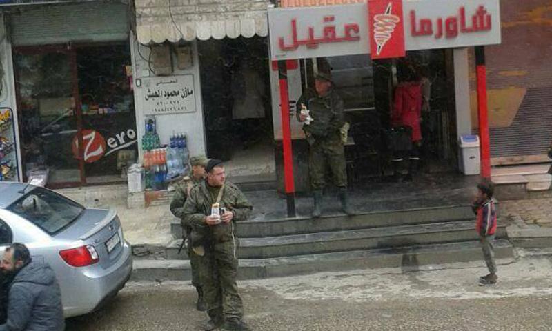 ثلاثة جنود روس في مدينة مصياف غرب حماة- الخميس 13 نيسان (ناشطون)