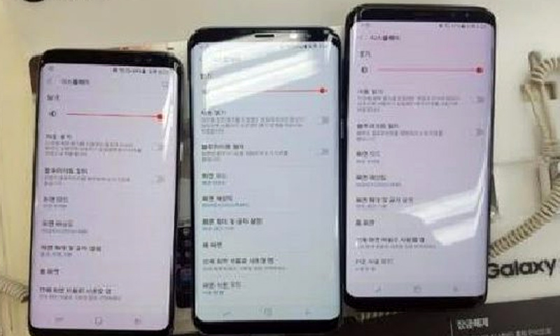 """صورة تظهر اختلاف لون الشاشة في هواتفي """"إس 8"""" - 18 نيسان 2017 (koreaherald)"""
