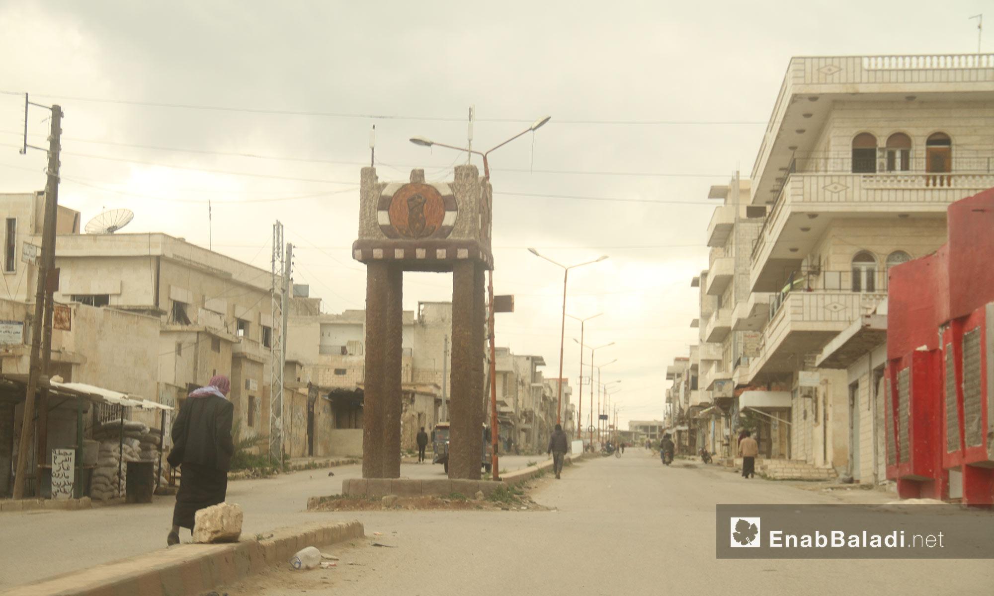 مركز مدينة خان شيخون في إدلب - 14 نيسان 2017 (عنب بلدي)