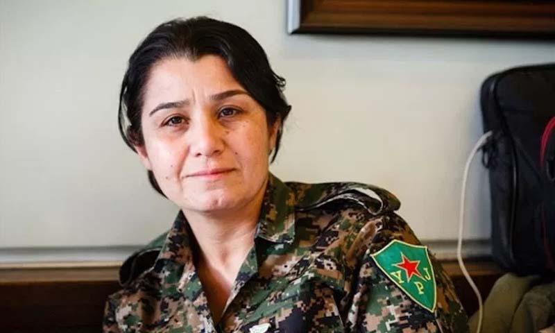 """الناطقة باسم """"وحدات حماية الشعب"""" الكردية، نسرين عبدالله (إنترنت)"""