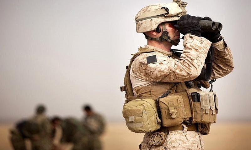 جندي من القوات الخاصة الأمريكية شمال مدينة الرقة -(انترنت)
