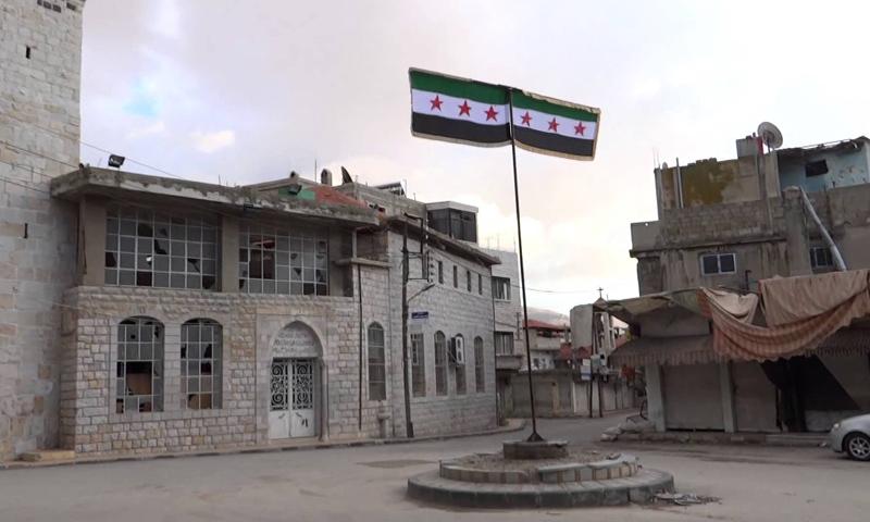 """ساحة """"الحرية"""" في مدينة الزبداني قبيل تدميرها- تشرين الثاني 2012 (يوتيوب)"""