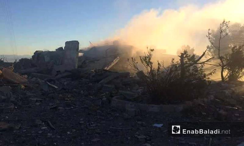 """قصف جبل """"قره تشوك"""" التابع إداريًا للمالكية في ريف الحسكة - 25 نيسان 2017 (عنب بلدي)"""