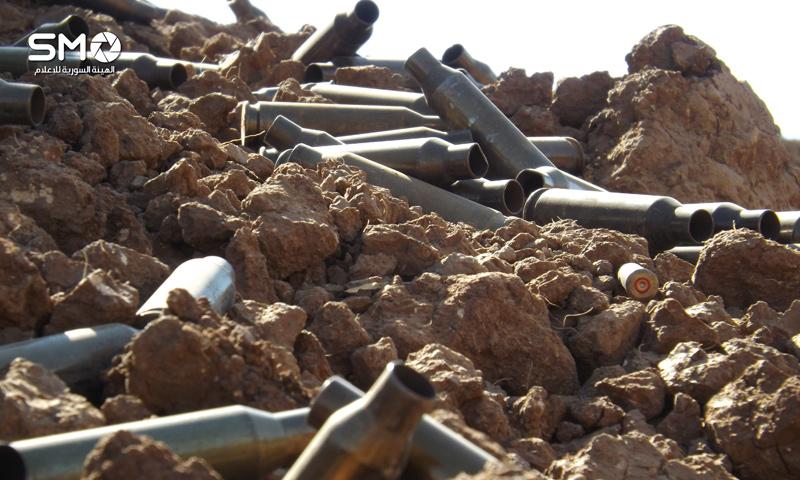 فوارغ لذخائر أسلحة ثقيلة في درعا جنوب سوريا - 22 تشرين الأول 2016 (الهيئة السورية للإعلام)