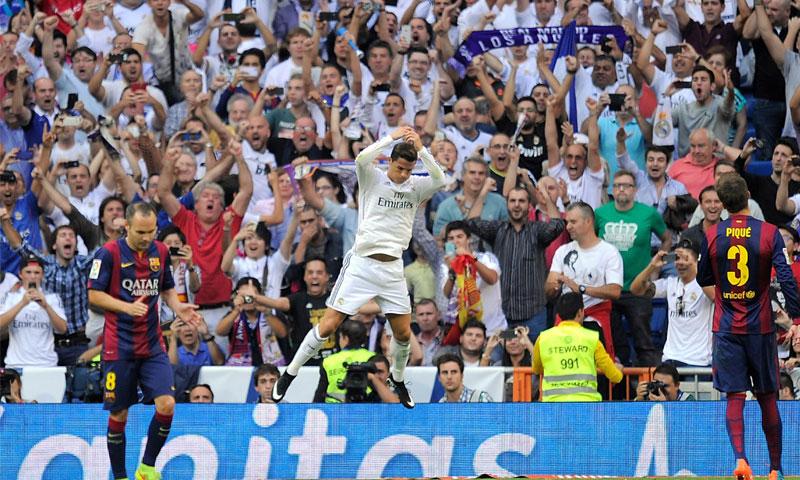 من لقاء ريال مدريد وبرشلونة