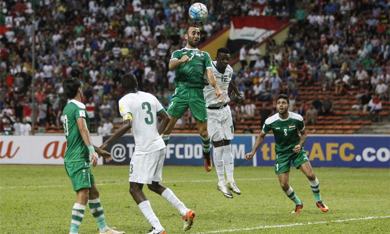 مباراة المنتخب السعودي والعراقي في التصفيات الآسيوية المؤهلة إلى كأس العالم (إنترنت)