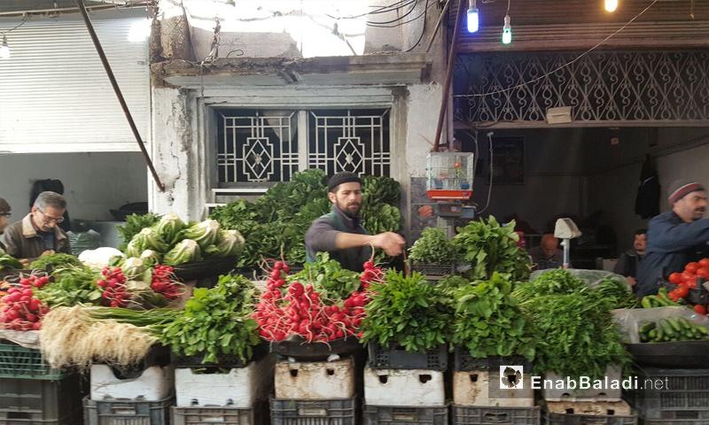 سوق الخضار في مدينة القامشلي - 19 نيسان 2017 (عنب بلدي)