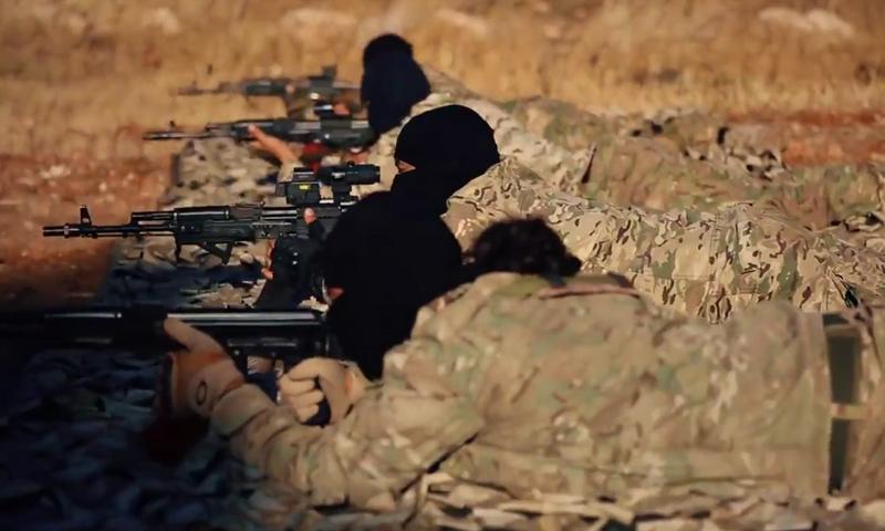 """""""قوات النخبة"""" في """"هيئة تحرير الشام"""" - نيسان 2017 (يوتيوب)"""