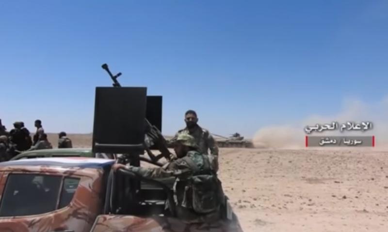 من عمليات قوات الأسد في ريف دمشق الشرقي- الثلاثاء 25 نيسان (يوتيوب)