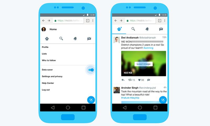 """صورة تظهر تطبيق """"تويتر"""" الجديد 6 نيسان 2017 (مدونة تويتر)"""
