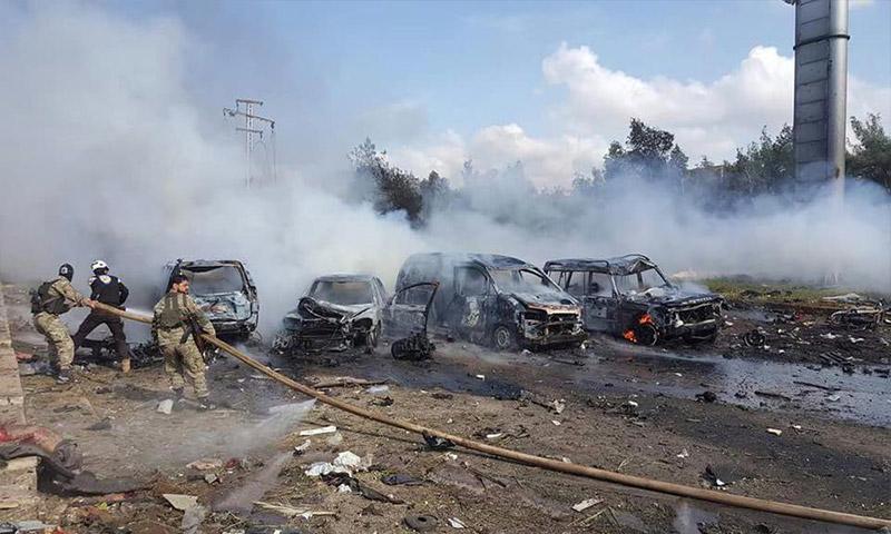 انفجار سيارة مفخخة في منطقة الراشدين غرب حلب- السبت 15 نيسان (ناشطون)