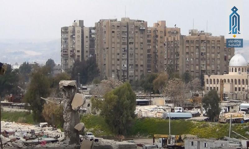 مخيم اليرموك جنوب دمشق - نيسان 2017 (وكالة إباء)