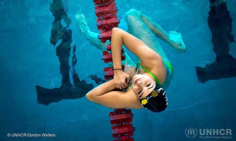 السباحة السورية يسرى مارديني (مفوضية الأمم المتحدة لشؤون اللاجئين)