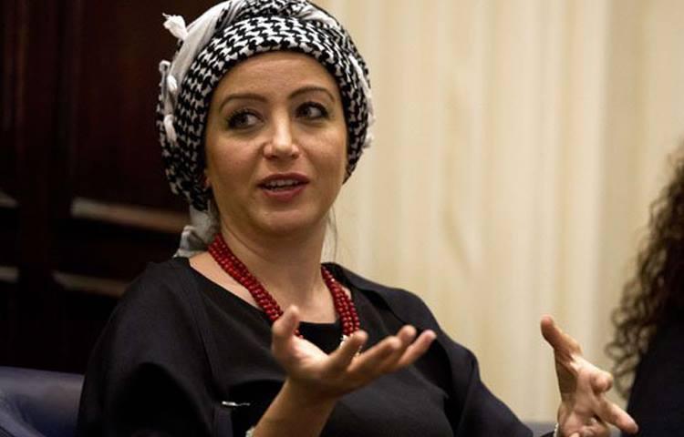الصحفية السورية زينة ارحيم (AFP)