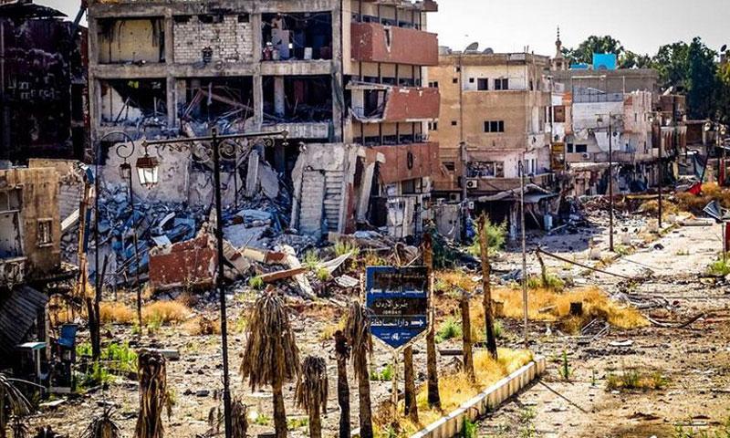 أرشيفية- أحد شوارع مدينة درعا (فيس بوك)
