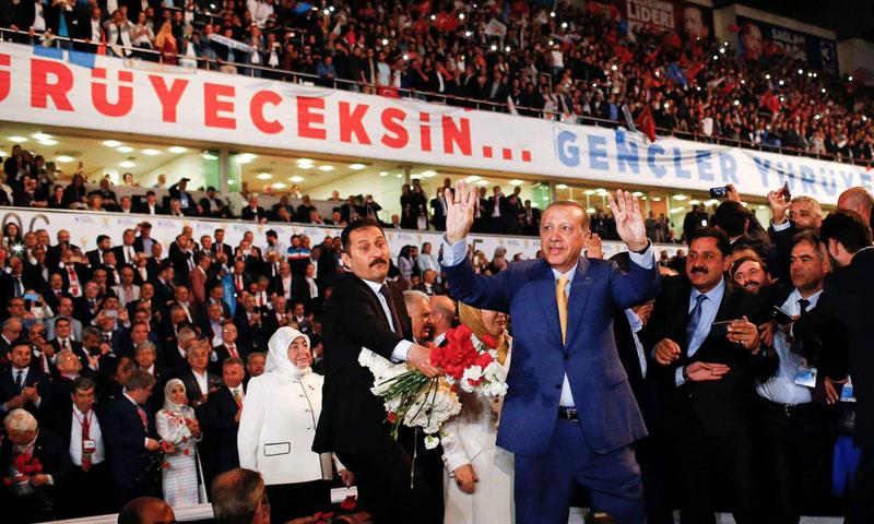أردوغان خلال مؤتمر استثنائي في أنقرة- الأحد 21 أيار (TRT)
