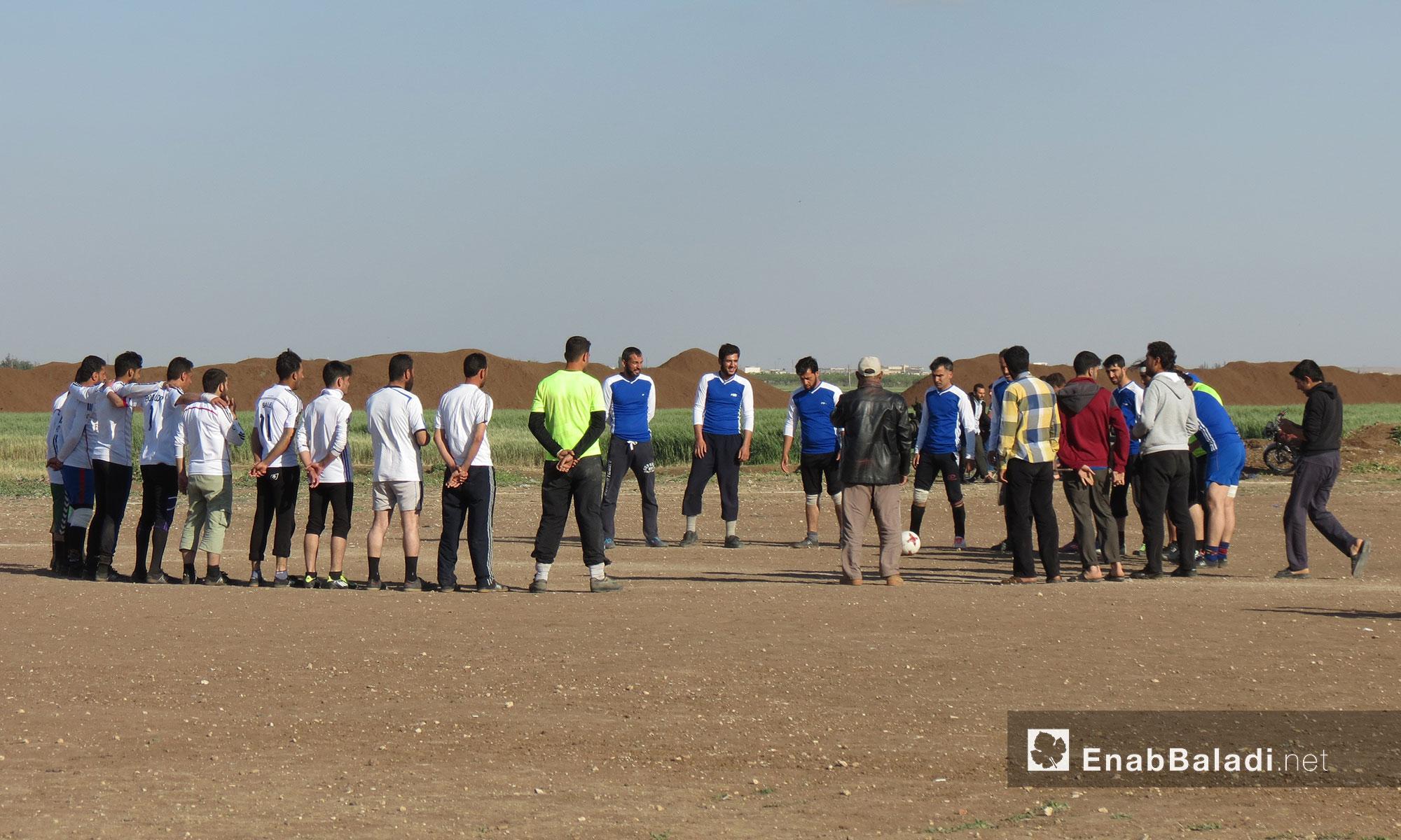 دوري كرة القدم في ملعب دابق بين فريقي دابق ومارع - 8 أيار 2017 (عنب بلدي)