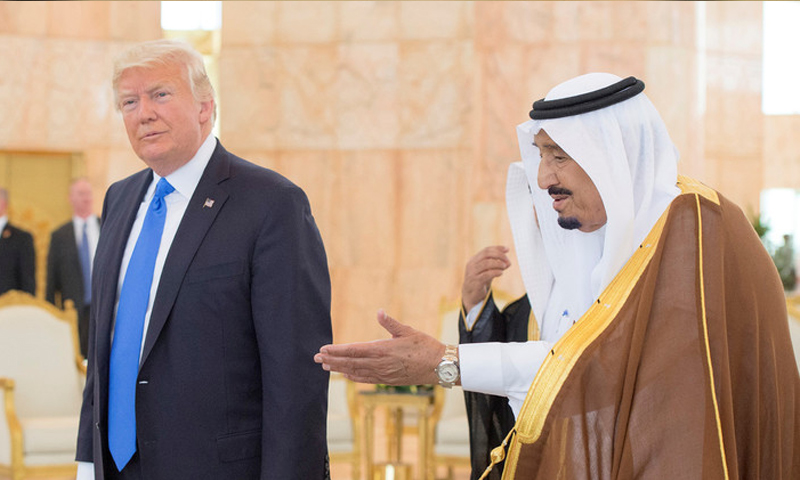 زيارة الرئيس الأمريكي دونالد ترامب للسعودية - 20 أيار 2017 (انترنت)