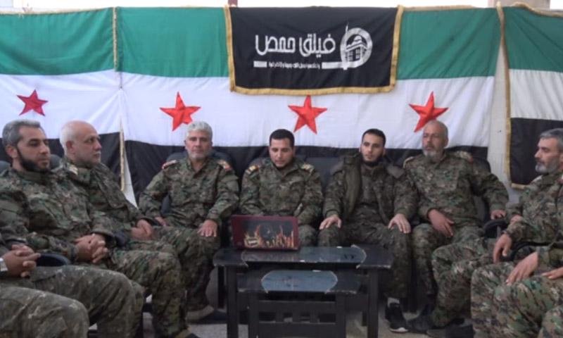 قيادة فيلق حمص أثناء إلقاء البيان، 5 تشرين الثاني 2016 (إنترنت)