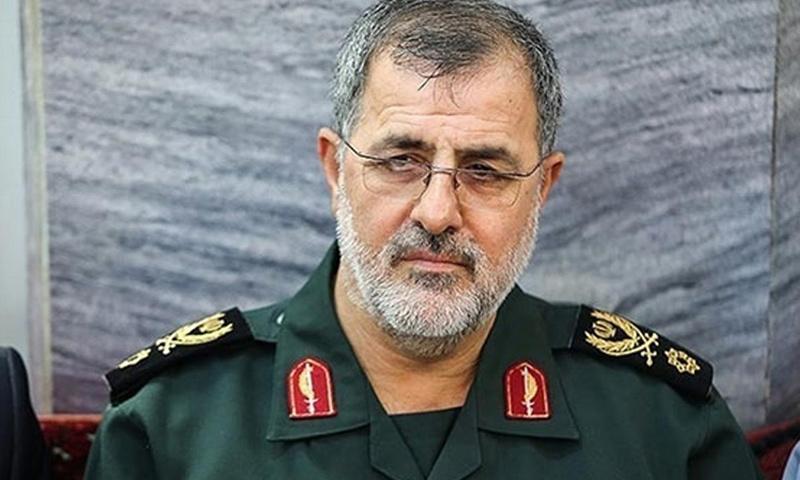 """العميد محمد باكور- قائد القوات الرية في """"الحرس الثوري"""" الإيراني (وكالات)"""