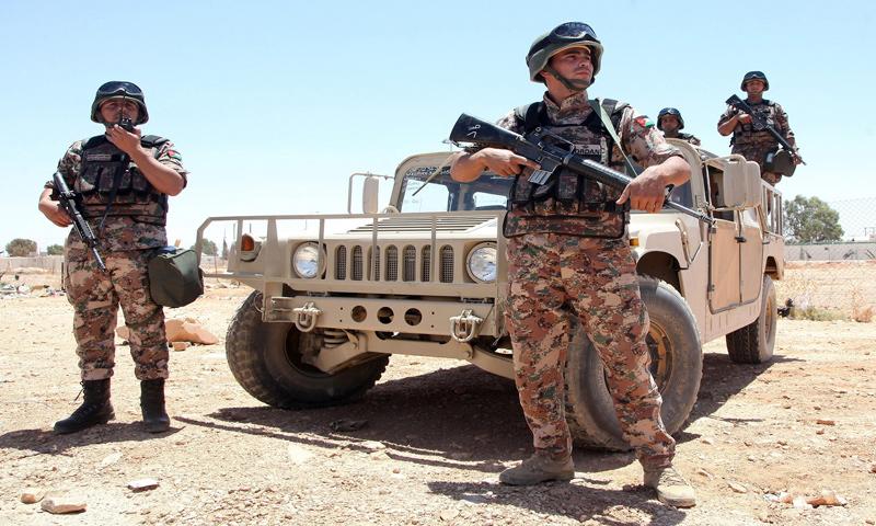 عناصر من حرس الحدود الأردني - (انترنت)