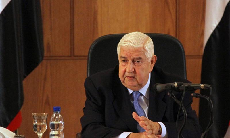 وزير الخارجية السوري وليد المعلم (إنترنت)