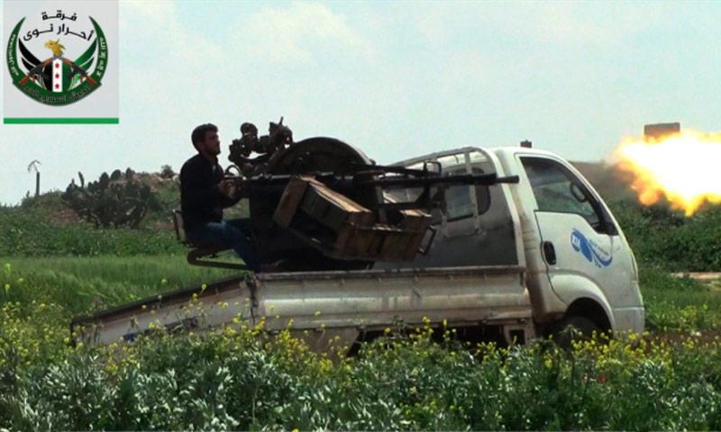 تعبيرية: مقاتل من الجيش الحر في درعا - نيسان 2017 (فرقة أحرار نوى)