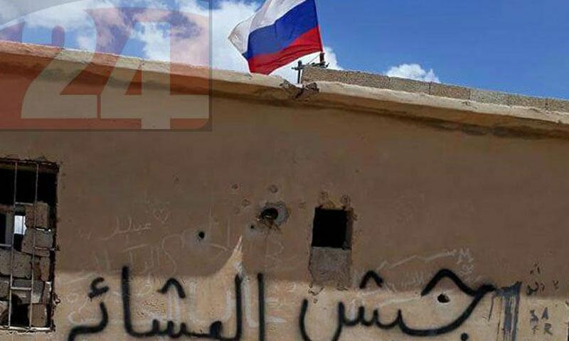 قوات الأسد ترفع أعلامًا روسية في بادية السويداء- السبت 20 أيار (السويداء 24)