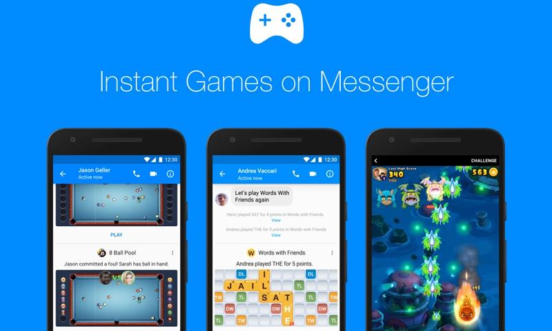 """""""فيس يوك"""" تطرح ميزة الألعاب على """"ماسنجر"""" - (مدونة فيس بوك)"""