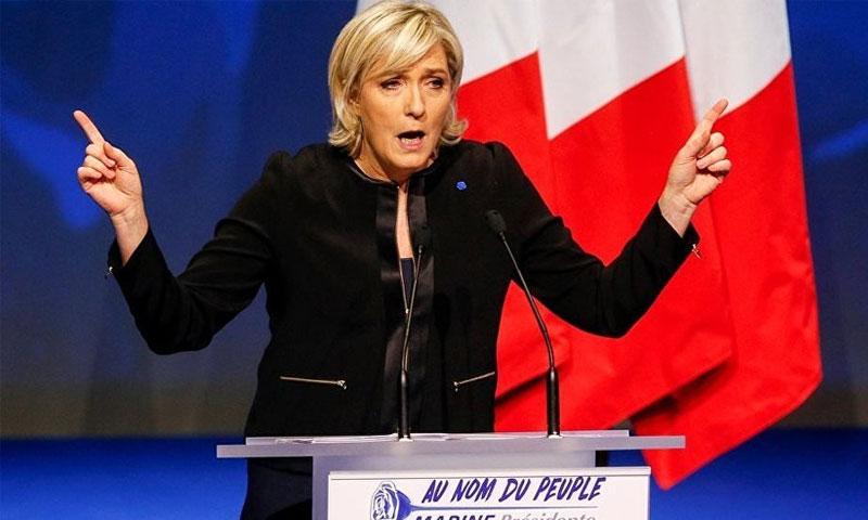 زعيمة حزب اليمين الفرنسي المتطرف مارين لوبان - (انترنت)