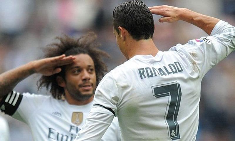 تعبيرية: لاعبا ريال مدريد رونالدو ومارسيلو (إنترنت)