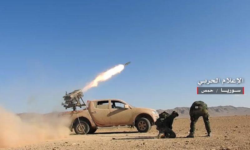 معارك قوات الأسد في ريف حمص الشرقي- الخميس 25 أيار (الإعلام الحربي)