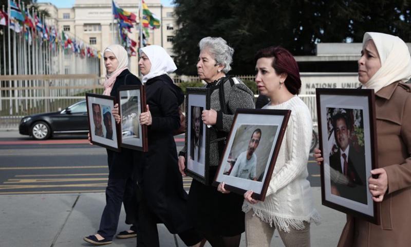 """أرشيفية- نساء من مجموعة """"عائلات من أجل الحرية"""""""