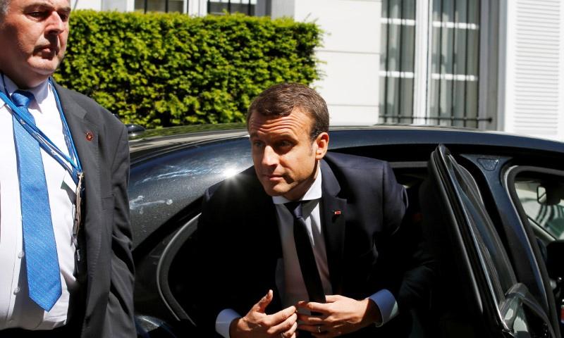 الرئيس الفرنسي الجديد إيمانويل ماكرون - (رويترز)