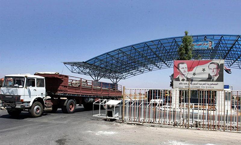 مركز نصيب الحدودي بين سوريا والأردن (انترنت)
