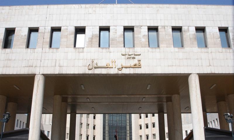 مبنى القصر العدلي في منطقة المزة بدمشق - (انترنت)
