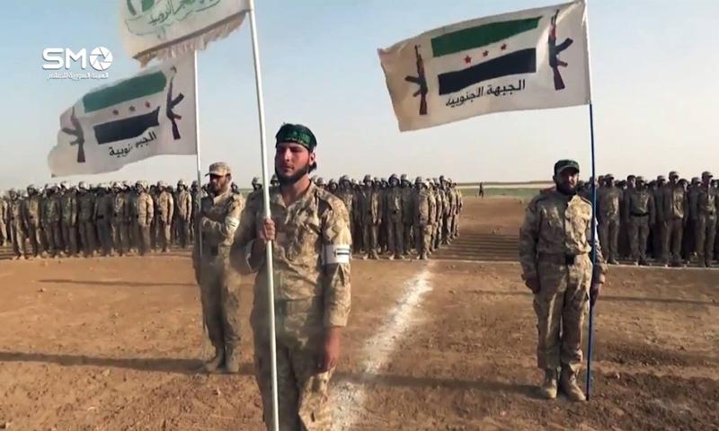 عناصر من فصائل الجبهة الجنوبية في ريف مدينة درعا - (الهيئة السورية للإعلام)