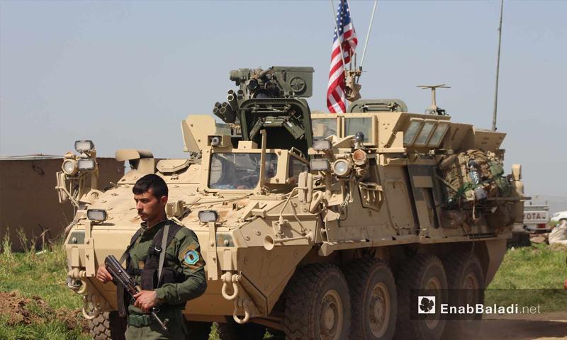 تمركز القوات الأمريكية في قرية الغنامة بمدينة الدرباسية على الحدود السورية التركية - 1 أيار 2017 - (عنب بلدي)