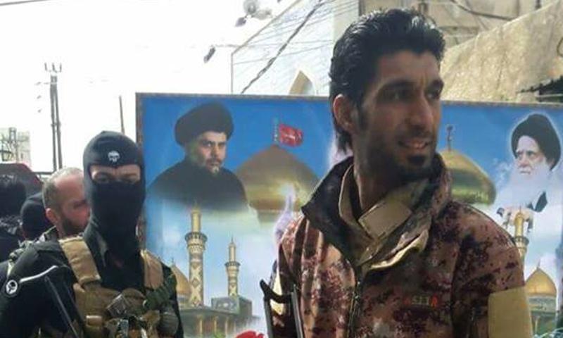 """القيادي في """"لواء الإمام الحسين"""" فلاح الجبوري (صفحة الميليشيا في فيس بوك)"""
