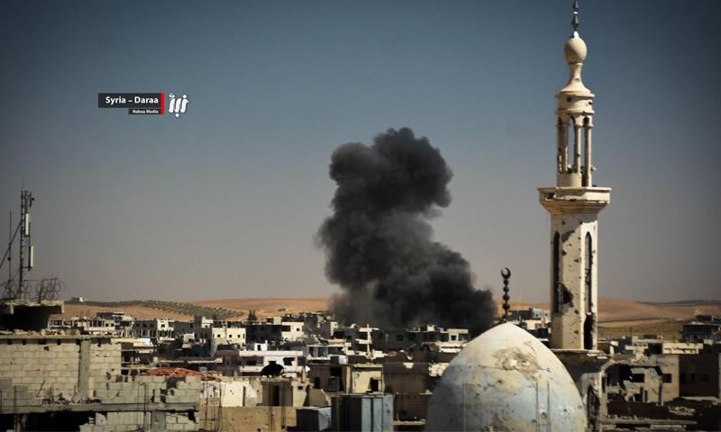 آثار القصف على مدينة درعا - 11 حزيران 2017 (وكالة نبأ)