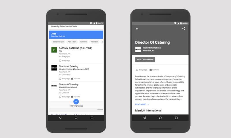 """نتائج البحث عن الوظائف في محرك بحث """"جوجل"""" (مدونة الشركة الرسمية)"""
