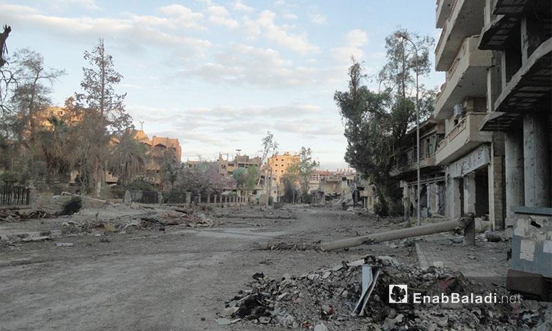 شارع عام في دير الزور - 2013 (أرشيف عنب بلدي)