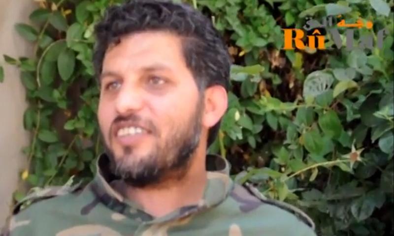"""القيادي العسكري في """"الجيش الحر"""" عويد أبو صقر (يوتيوب)"""