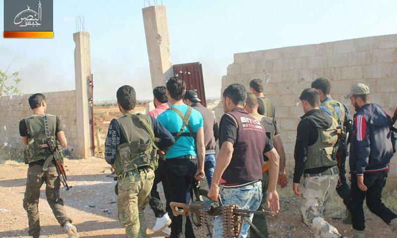 """عناصر من """"الجيش الحر"""" في ريف حماة الشمالي- السبت 3 حزيران (جيش النصر)"""